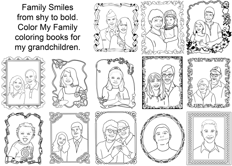 coloring pages family members - photo#34