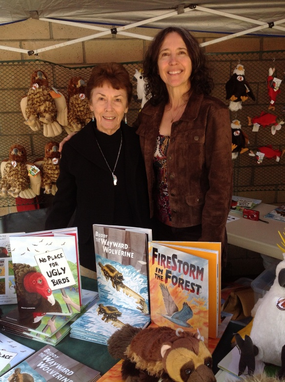 Usually other illustrators and authors of Red Tail Publishing books attend events. Due to unavoidable situations, I was the only one able to attend today. My MIL, Norma, was kind enough to join me.