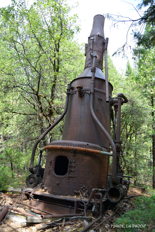 Willamette steam donkey, steam yarder