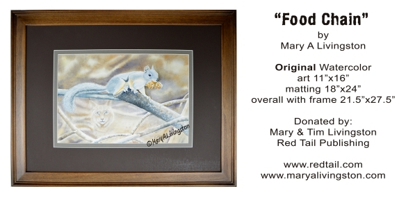 """Food Chain"" watercolor by Mary A Livingston"