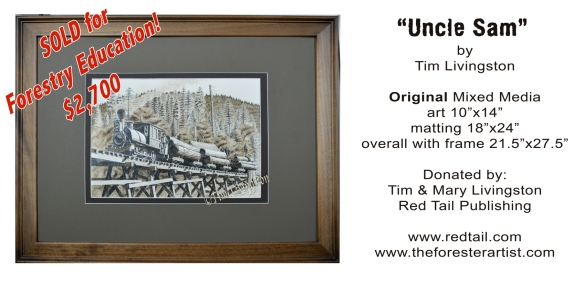 """Uncle Sam"" mixed media by Tim Livingston rocked the competition, scoring $2,700 for Forestry Education."