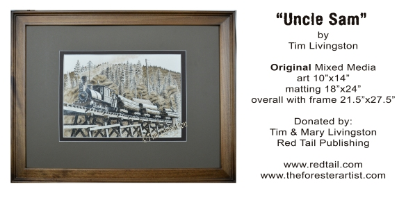 """Uncle Sam"" mixed media by Tim Livingston"
