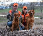 Bliss with her hunting partners.