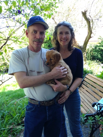 Here, Mary and I just picked up Bliss from the breeder Susan Liptak.