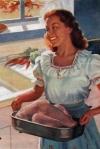 Turkey dinner prep circa 1946 in American Standard advertisement.